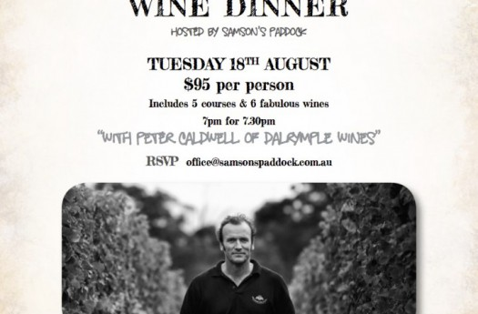 PAST: Dalrymple Wine Dinner – Tuesday 18/08