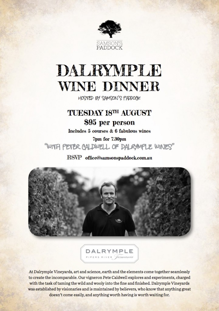 Dalrymple Wine Dinner Promo