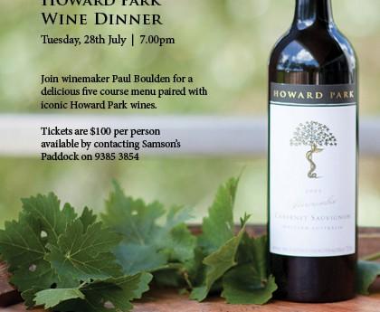 PAST: Howard Park Wine Dinner