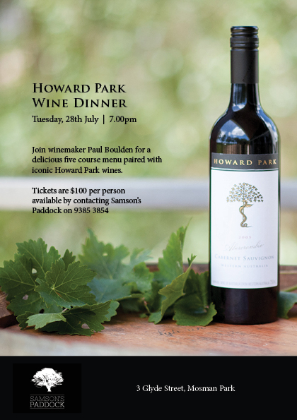 Howard Park Wine Dinner Promo