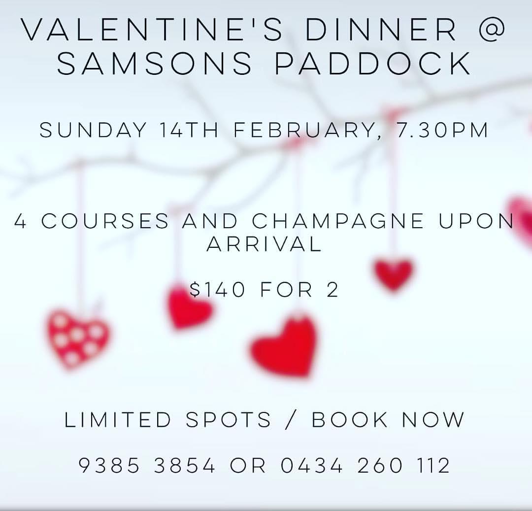 Valentine's Dinner Promo 2016