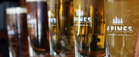 Branded Glasses of 4 Pines Beer